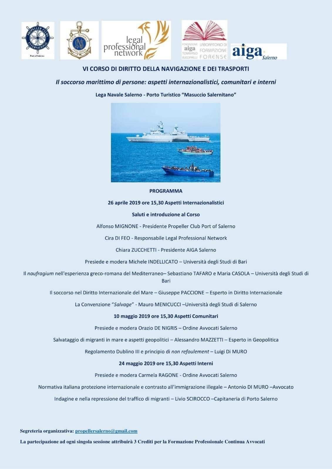 propeller salerno corso diritto della navigazione 2019 credifi formativi avvocati